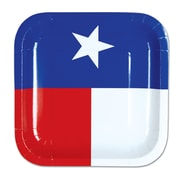 "Beistle 7"" Texas Plate, Blue/White/Red, 32/Pack"