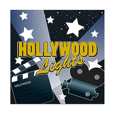 Hollywood Lights Luncheon Napkins, 48/Pack