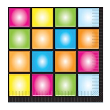 Disco Luncheon Napkins, 48/Pack