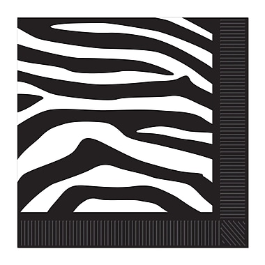 Zebra Print Luncheon Napkins, 48/Pack