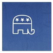 Beistle 6 1/2 x 6 1/2 Republican Luncheon Napkins, Blue, 32/Pack