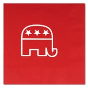 Beistle 6 1/2 x 6 1/2 Republican Luncheon Napkins, Red, 32/Pack