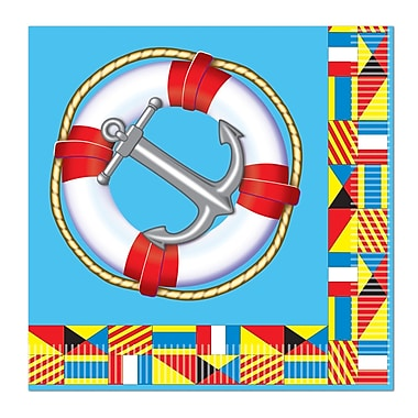 Nautical Beverage Napkins, Beverage, 64/Pack