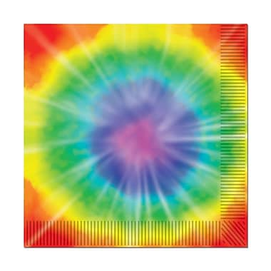 Beistle Tie-Dyed Beverage Napkin, 64/Pack