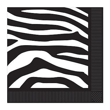 Zebra Print Beverage Napkins, 48/Pack
