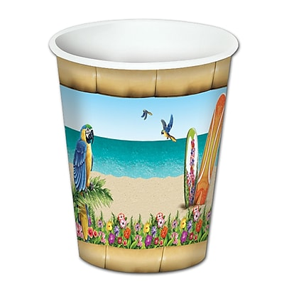 Beistle 8 Oz. Paradise Beverage Cups, 24/Pack 1071983