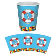 Beistle 9 Oz. Nautical Beverage Cups, 24/Pack