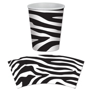 Beistle 9 Oz. Zebra Print Beverage Cups, Black/White, 24/Pack