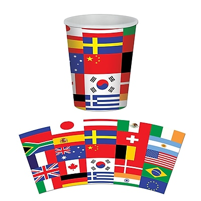 Beistle 9 Oz. International Flag Beverage Cups, 24/Pack 1071972