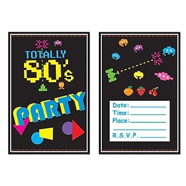 Invitations années 80, 4 x 5 1/2 po, 24/paquet