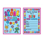 "Beistle Hula Baby Invitations, 4"" x 5 1/2"""