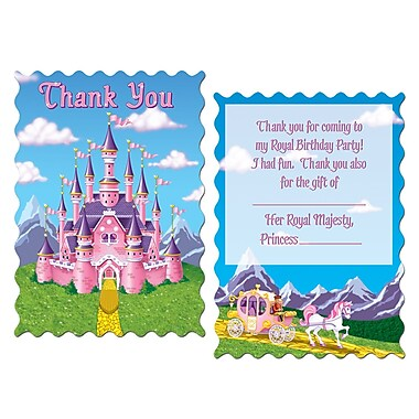 Beistle Princess Party Thank You Notes, 4