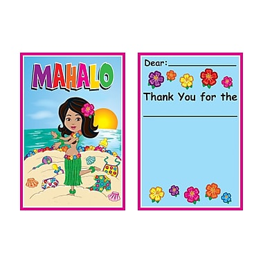 Beistle Hula Baby Thank You Notes, 4