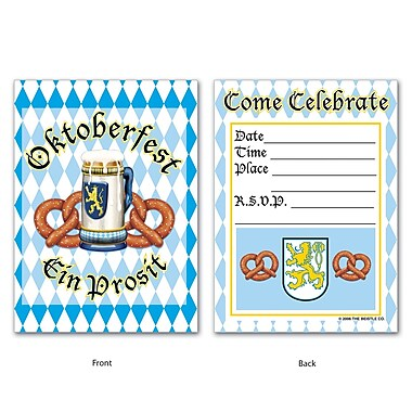 Beistle Oktoberfest Invitations, 4