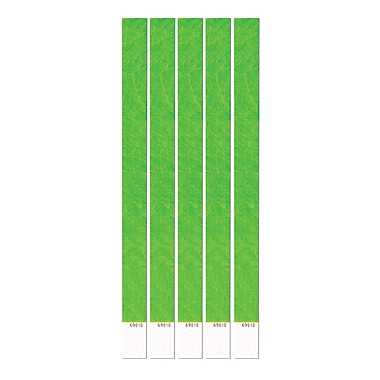 Neon Lime Tyvek Wristbands, 3/4