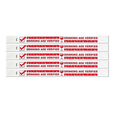 Drinking Age Verified Tyvek Wristbands, 3/4