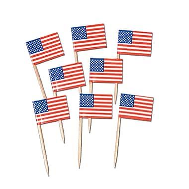 Beistle U S Flag Picks, 2 1/2