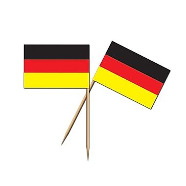 Beistle German Flag Picks, 2 1/2