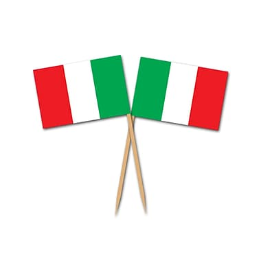 Pics drapeau italien, 2 1/2 po, 250/paquet