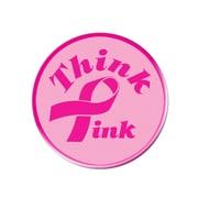 "Beistle 3 1/2"" Ribbon Button, Pink"