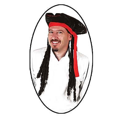 Caribbean Pirate Hat, One Size Fits Most