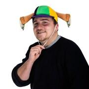 Beistle Plush Mardi Gras Beads Cap With Drawstring, One Size