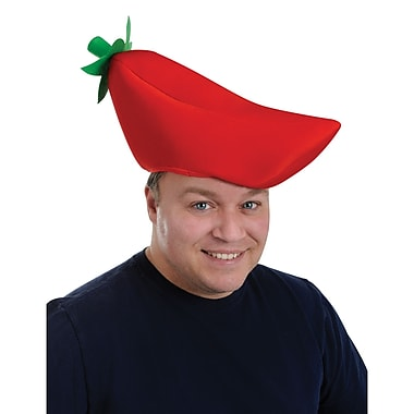 Plush Chili Pepper Hat, One Size Fits Most, 2/Pack
