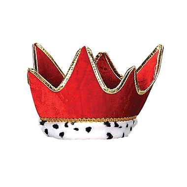 Plush Royal Crown, One Size Fits Most, Red, 2/Pack