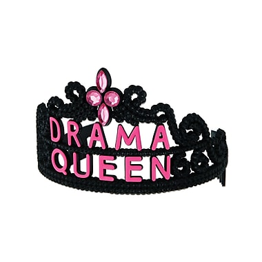 Plastic Drama Queen Tiara, One Size Fits Most, 4/Pack