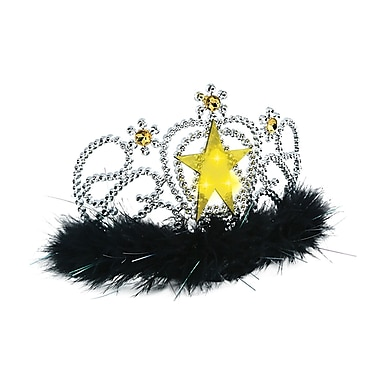 Plastic Light-Up Star Tiara, One Size Fits Most, 3/Pack