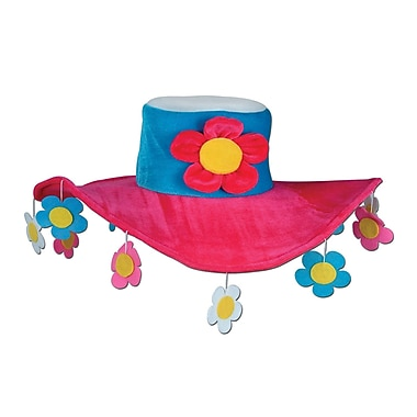 Plush Flower Power Hat, One Size Fits Most