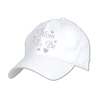 Beistle Embroidered Mom To Be Cap, White