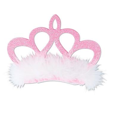 Pince à cheveux couronne rose, taille unique, paquet de 3