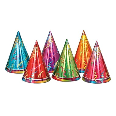 Prismatic Party Hats, 6-1/2