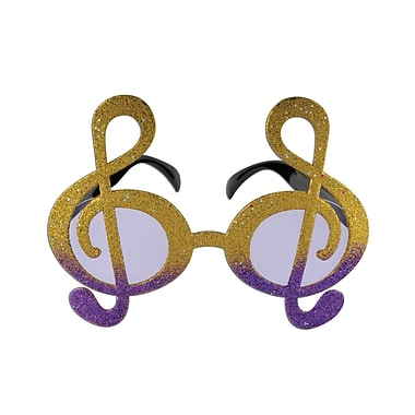 Glittered G Clef Fanci-Frames, One Size Fits Most, Gold & Purple, 2/Pack
