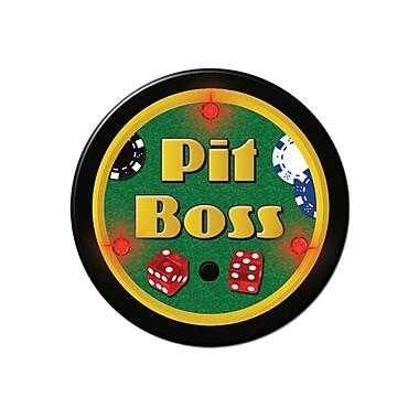 Flashing Pit Boss Button, 2-1/4