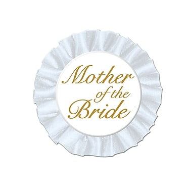 Mother Of The Bride Satin Button, 3-1/2
