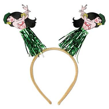 Beistle Adjustable Hula Girl Boppers, Green