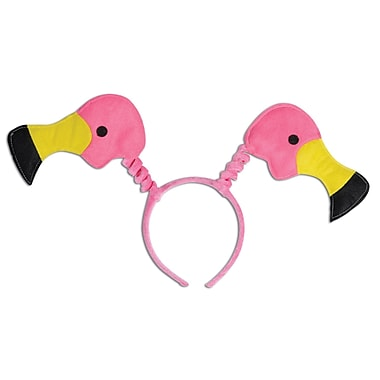 Beistle Adjustable Flamingo Boppers, Pink/Yellow/Black