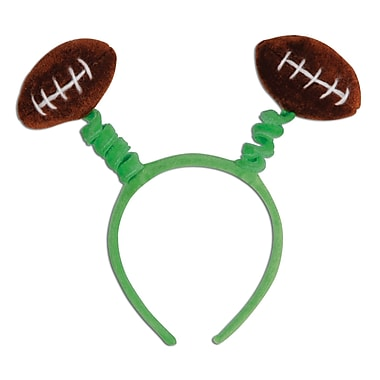 Beistle Adjustable Football Boppers, Green/Brown/White