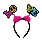 Beistle Glittered Love Boppers With Snap-On Headband, 3/Pack