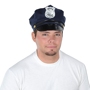 Police Hat, One Size Fits Most, 2/Pack