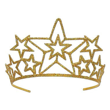 Glittered Metal Star Tiara, One Size Fits Most