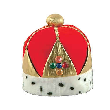 Plush Imperial Queen's Crown, One Size Fits Most, Red, 2/Pack