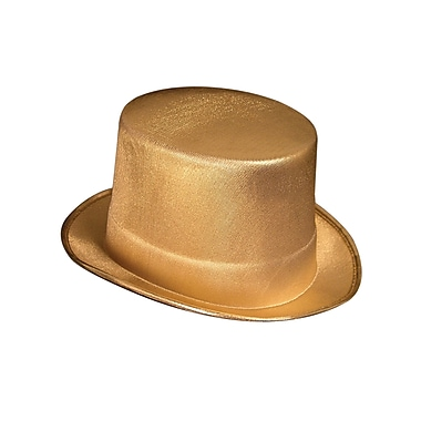 Gold Theatrical Top Hat, One Size Fits Most, 2/Pack