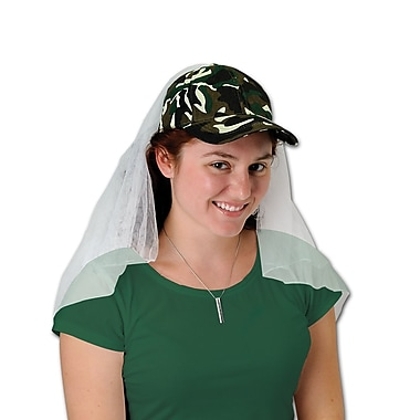 Camo Cap With Veil, One Size Fits Most, 2/Pack