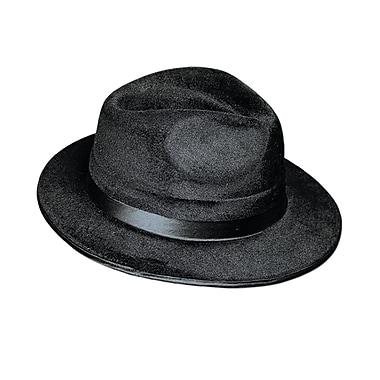 Vel-Felt Fedora, One Size Fits Most, Black, 2/Pack