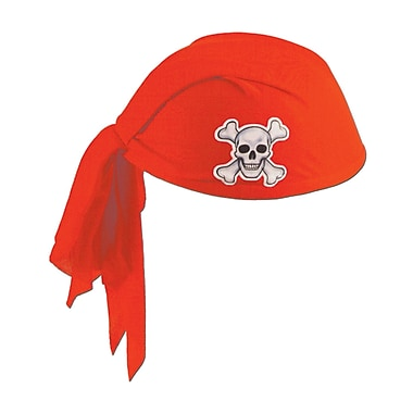 Bandeau de pirate, rouge, 3/paquet