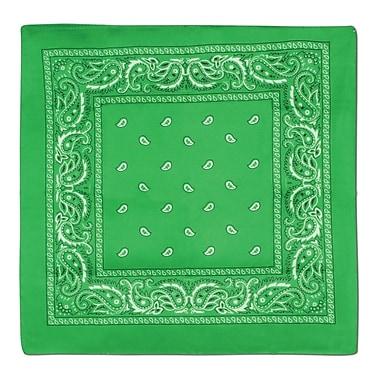 Bandana, 22 x 22 po, vert, 5/paquet