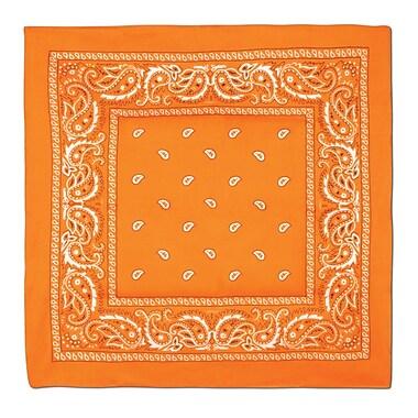 Bandana, 22 x 22 po, orange, 5/paquet